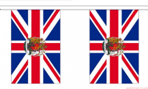 UNION JACK WITH ROYAL CREST BUNTING - 9 METRES 30 FLAGS